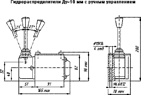 Гидрораспределителя с ручным управлением (РУ)