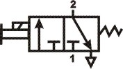Пневмосхема пневмораспределителя П-ЭПР3