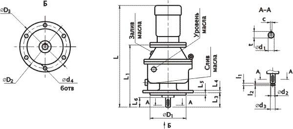 размеры моторы редуктора
